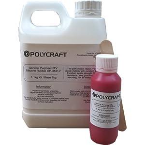 Polycraft GP-3481F RTV Silicone Mould Making Rubber 1.1Kg Kit