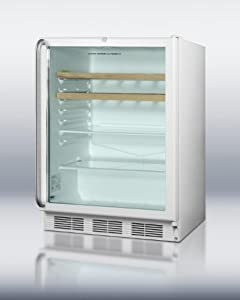 refrigerator for built-in use, with white cabinet, stainless steel