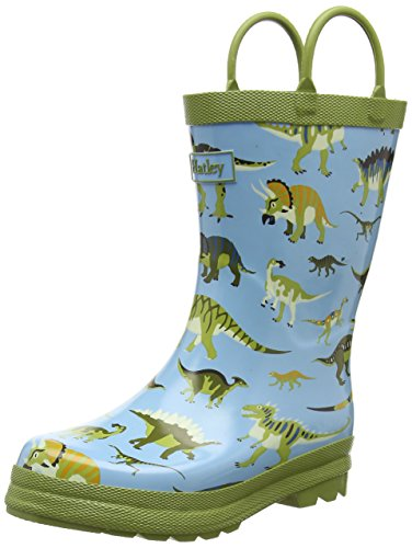 Hatley Little Boys Wild Dinos Rain Boots, Blue, 5