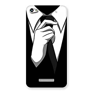 Enticing Knotting Tie Multicolor Back Case Cover for Micromax Hue 2