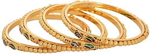 Handicraft Kottage Gold Plated Set of 4 Bangles For Women- 2.4 (HK2-ABGM-3027)