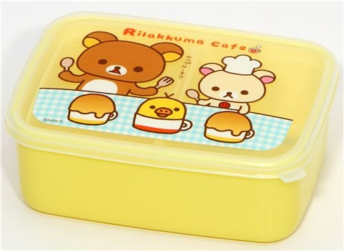 Rilakkuma Cafe Bear Bento Box Lunch Box San-X lunch box lunch picnic bento container cooler bag pack insulation package