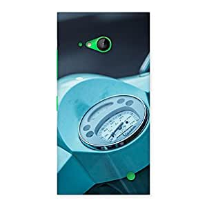 Ajay Enterprises Fill Scooter Meter Back Case Cover for Lumia 730