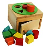 Toys of Wood Oxford Wooden Shape Sorter Box with Rotating Wheel