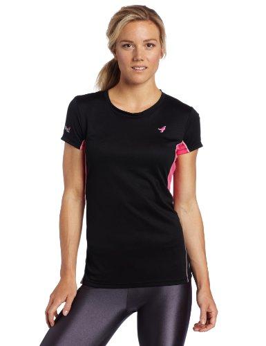 New Balance Women's Short Sleeve Tempo Tee (Black, X-Large)