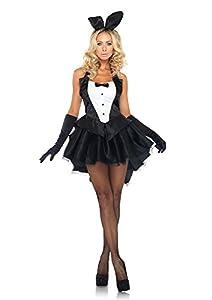 Leg Avenue 3-Piece Tux And Tails Bunny Tuxedo Costume, Black/White, X-Small