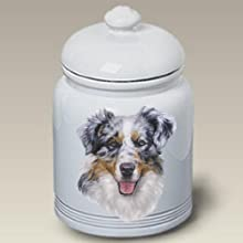 Australian Shepherd Dog - Linda Picken Treat Jar
