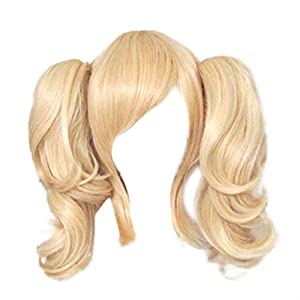 Dream2reality Cosplay_Code Geass Lelouch of the Rebellion_Anya Alstreim_2 ponytails_35cm_blonde_Japanese kanekalon wigs