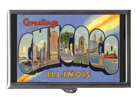 Chicago Vintage Retro Postcard Coin, Mint or