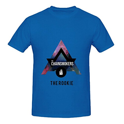 The Chainsmokers Rookie Men O Neck Diy Shirts Blue (Guitar Hero Ps2 Wired Guitar compare prices)