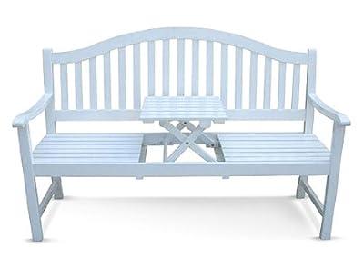 Gartenbank 'GOTLAND' mit Tischablage von ESTO GmbH - Gartenmöbel von Du und Dein Garten