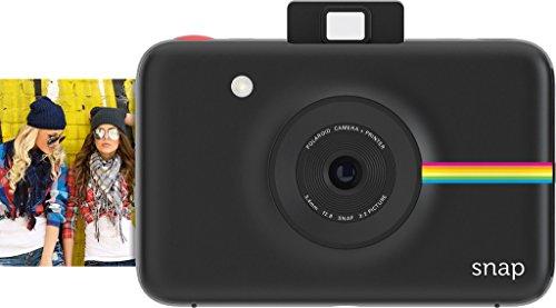 Polaroid Snap Fotocamera Digitale a scatto istantaneo (Nera) con Tecnologia di Stampa a Zero Inchiostro ZINK