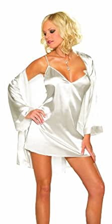 Charmeuse Babydoll And Robe