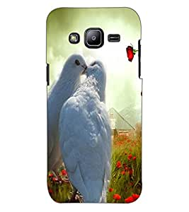 ColourCraft Love Pigeons Design Back Case Cover for SAMSUNG GALAXY J2 DUOS