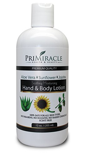 Natural Hand and Body Lotion with Shea Butter and Aloe Vera. The best body lotion for All Skin Types. PriMiracle Professional Line