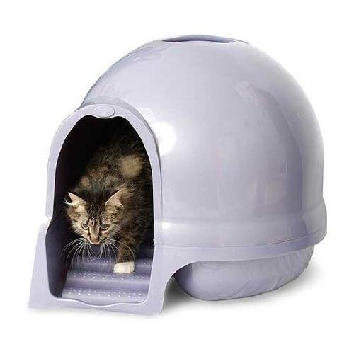 Cat Supplies Petmate Booda Dome Cleanstep Cat Box, Brushed Nickel New (Auto Cleaning Cat Liter Box compare prices)