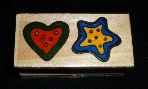Star And Heart Rubber Stamp - 1