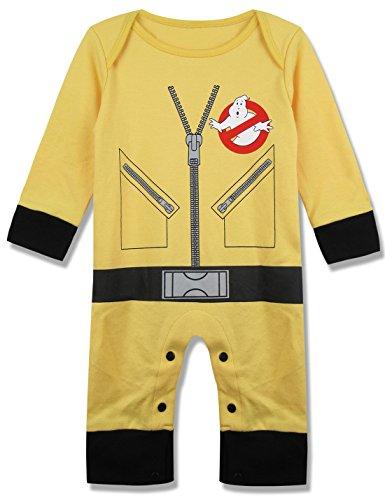 [A&J Design Unisex-baby Newborn Ghost Halloween Costume Romper (3-6 Months)] (Cute Halloween Costumes For Newborn Babies)