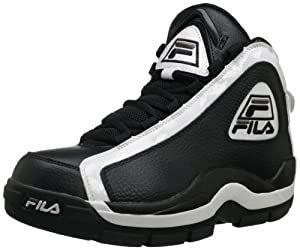Fila Men's 96 Basketball Shoe,Black/White/Metallic Silver,9.5 M US