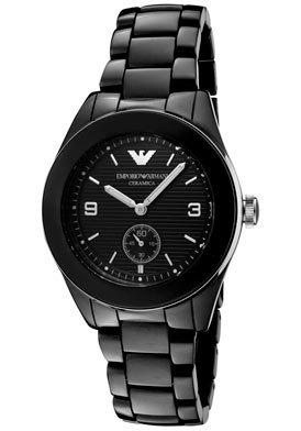 Emporio Armani Men's AR1422 Black Textured Ceramic Watch