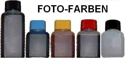 Foto-Farben-Set 250ml und 50ml Düsenreiniger für Canon Starwriter Pro 5000 mit Anleitung
