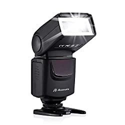 DBK Brand New Camera Flash Speedlight DF-400 for Canon Nikon Olympus Pentax Samsung Fujifilm Ricoh DSLR and Digital Cameras with Single-Contact Hot Shoe