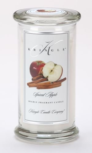 SPICED APPLE Large Classic 95 Hour Apothecary Jar Candle by Kringle Candles