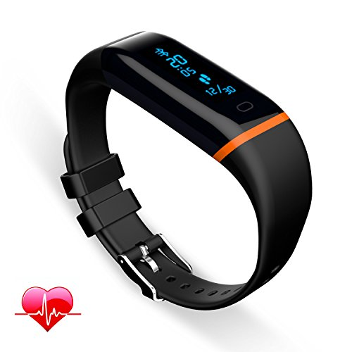 Fitness Tracker Q-YEE Heart Rate Monitor Waterproof Sports Wristband Watch for Android 4.3 IOS 7.1 or Above