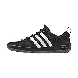 adidas Outdoor Unisex Climacool Boat Lace Water Shoe, Black/Chalk White/Silver Metallic, 12 M US
