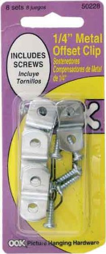OOK 50228 1/4-Inch Offset Clip with Hardware