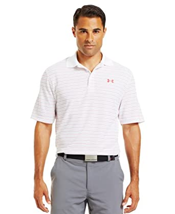 Under Armour Mens UA Draw Stripe Pique Polo 3.0 by Under Armour