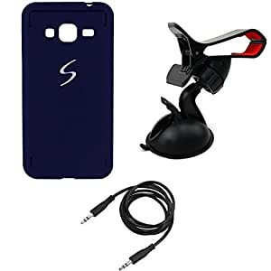 NIROSHA Cover Case Headphone for Samsung Galaxy J7 - Combo