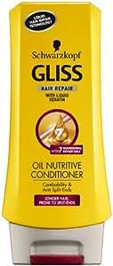 Schwarzkopf Gliss Oil Nutritive Conditioner 200ml (Pack of 3)