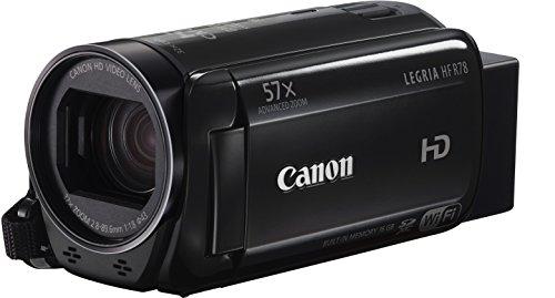 Canon Legria HF R78 Videocamera Digitale Full HD, Zoom 57x, Nero/Antracite