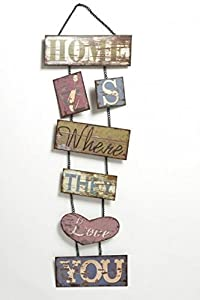 Home is Where They Love You vintage distressed metal hanging sign plaque