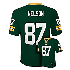 Jordy Nelson Green Bay Packers #87 NFL Youth Mid-tier Jersey Green (Youth Small 8)
