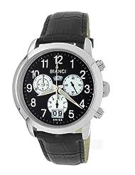 "Roberto Bianci Men's 1857LEA_BLK_BLK ""Eleganza"" Chronograph Watch"