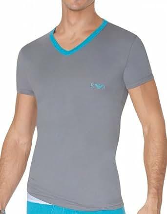 Emporio Armani T-Shirt Big Eagle Stretch Cotton Marine Taille M