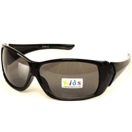 Kids Child 3-7 Sunglasses UV 400 Boys Girls Black with Smoke Lens