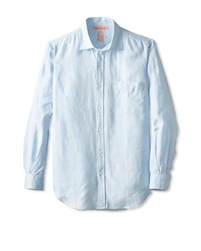 J. McLaughlin Men's Solid Spread Collar Sportshirt
