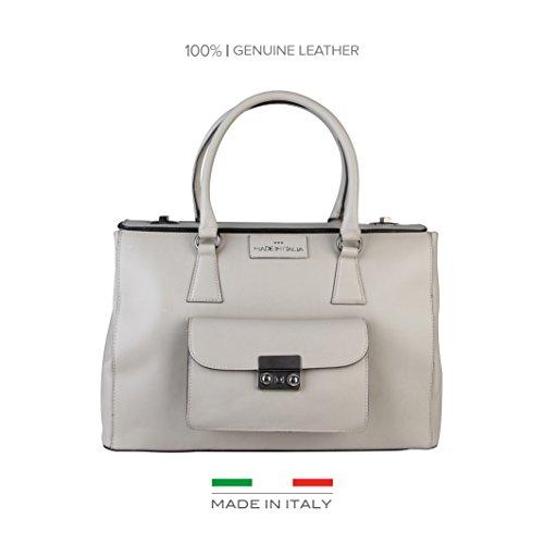 Made In Italia Bags, Borsetta da polso donna grigio grigio