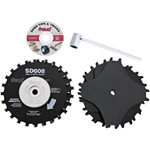 Freud sd608 8 inch dial a width stacked dado for 10 dado blade for table saw