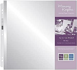 We R Memory Keepers 12 x 12 inch Postbound Album Page Protectors, 10 PK