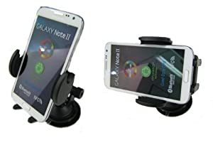 High Grade Samsung Galaxy Note 2 Mobile Phone Flexible Windshield Dash or Vent Mount Cradle Holder (accommodates all silicone skins and carrying cases) by Digitl