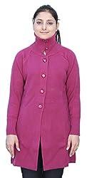 Romano Women's Classic Knit Long Wool Pink Sweater Cardigan Coat