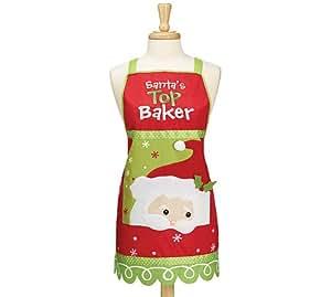 Santa 39 S Top Baker Adult Apron Holiday