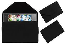 Acm Premium Pouch Case For Digimac Vivo Flip Flap Cover Holder Black