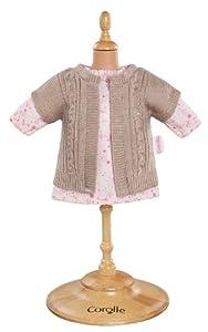 Corolle - Y7409 - Vêtement Poupée 36cm - Mademoiselle Corolle - Robe & Gilet Rose