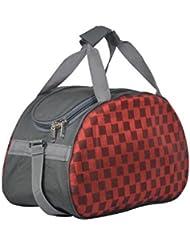 Red & Grey Trendy Travel Duffle Bag