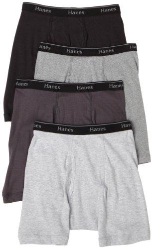 Hanes Classics Men's 4-Pack Multi-Color Boxer Brief Underwear